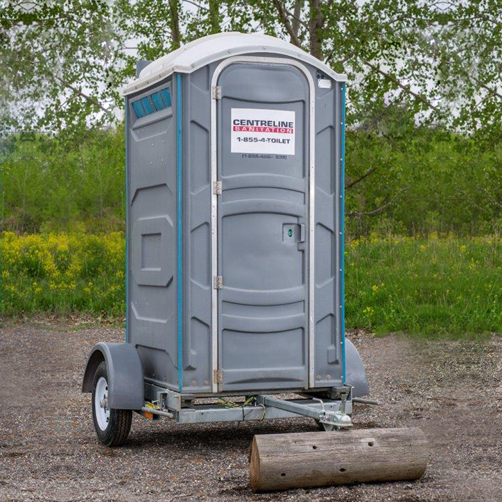 Chariot Trailer with Basic Portable Restroom