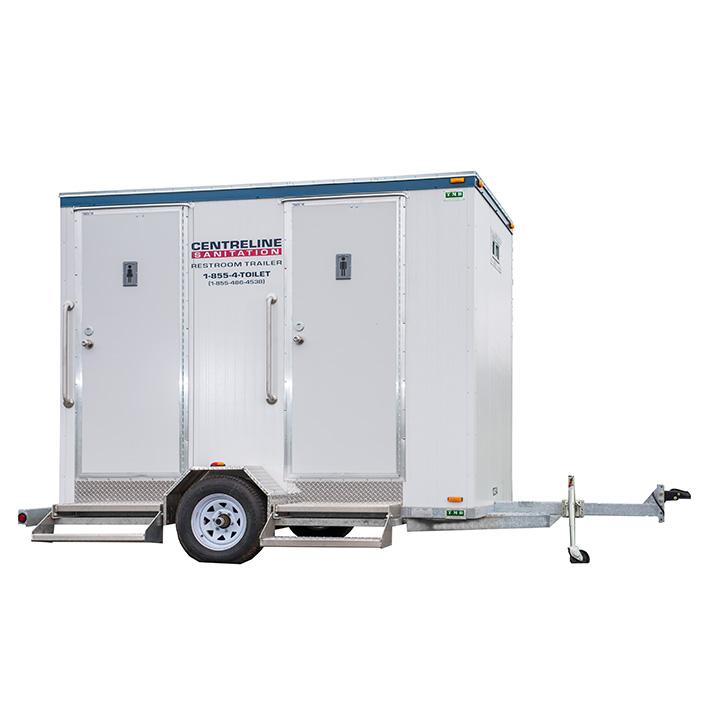 Double Construction Restroom Trailer