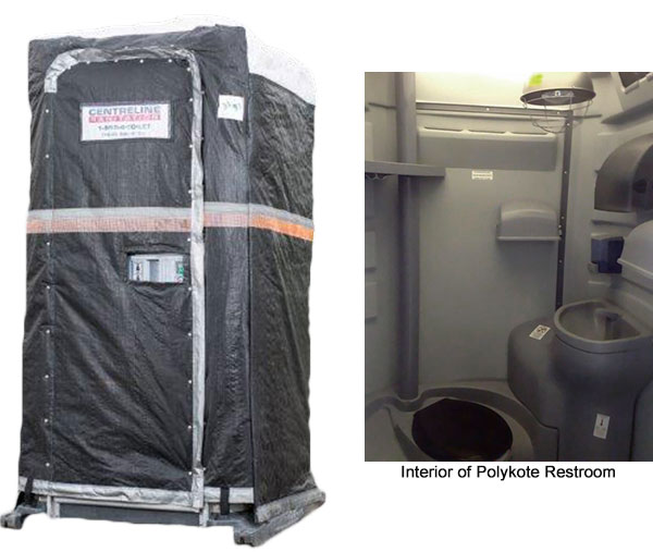 Heated, Insulated Portable Washrooms - PolyKote Portable Restroom