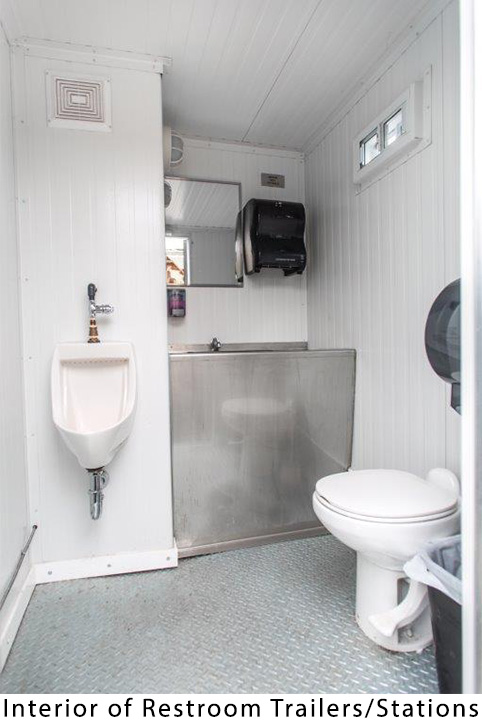 Interior of Restroom Trailer